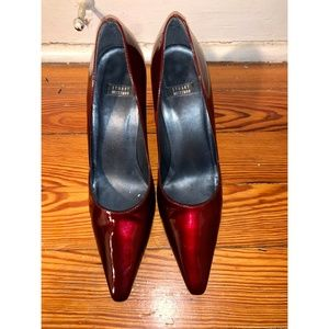 Stuart Weitzman Red Patent Leather Pump